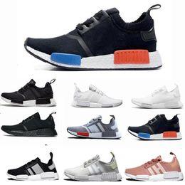 8847f2a1 2019 NMD R1 Oreo Runner Nbhd Primeknit OG Тройной черный камуфляж кроссовки  мужские женские кроссовки со скидкой дешевые спортивная обувь кроссовки  36-46