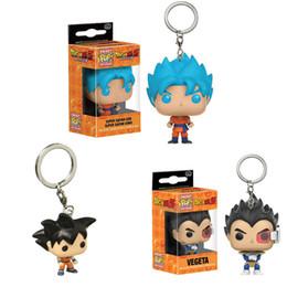 Funko Pop Dragon Ball Z Dragon Ball Goku Vegeta Porte-clés Pendentif Modèle Doll Action Figure Toy en Solde