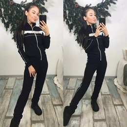 new style yoga pants 2019 - Women's two-piece Kit Tracksuits spring-autumn New style BRAND sweat shirt Print tracksuit women Long Pants Tops Wo