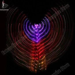 $enCountryForm.capitalKeyWord Australia - New Women Belly Dance Isis Wings Butterfly Led Dance Wing Light Up Lamp Performance Props Accessories Dj 360 Degrees Costume Led