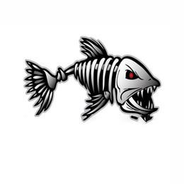 $enCountryForm.capitalKeyWord Australia - 2Pcs Fish Skeleton Bones SKULL Vinyl Decals Stickers Kayak Fishing Boat Car