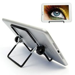 adjustable multi angle holder stand 2019 - Universal Adjustable Portable Foldable Metal Holder Desktop Multi-angle Non-slip Stand Holder For iPad Mini 2 3 4 Air Hu