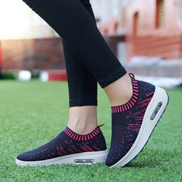 sneakers thick soles 2019 - Women Outdoor Mesh Shoes Breathable Mesh Female Sneakers Casual Sports Shoes Thick-Soled Air Cushion Adult Footwear Girl
