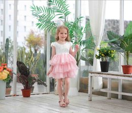 $enCountryForm.capitalKeyWord Canada - Kids lace tulle tutu dress girls lace embroidery tiered lace falbala cake dress girl V-neck princess dress children's day party dresses F631
