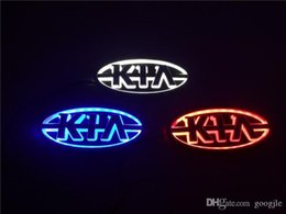 led badges for cars Australia - Car Styling 11.9cm*6.2cm 5D Rear Badge Bulb Emblem Logo led Light Sticker Lamp For KIA K5 Sorento Soul Forte Cerato Sportage RIO