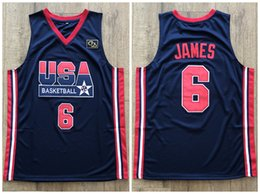 072f055b2677 Team Usa Basketball Jerseys Australia - 1992 Dream Team USA LeBron James  6  Retro Basketball
