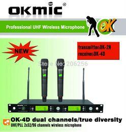 $enCountryForm.capitalKeyWord NZ - New OKMIC OK-4D 2H Professional UHF PLL true diversity wireless microphone system wireless 863-865MHz dual handheld transmitter