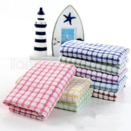 Wholesale Kitchen Dish Towels Cotton Soft Double-sided Absorbent Non-stick oil Wash Bowl Towels Kitchen Cleaning Cloth Scouring Pad 27*40cm FFA2705-1