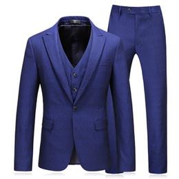 1b06d2a613 2019 Men Suits For Wedding Slim Fit Mariage Formal Designers Men Clothes  S-5xl Mens Suits With Pants And Vests T2190605