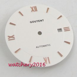 watches roses NZ - New 33mm Coutent White Watch Dial Rose Golden markers fit Miyota 8215 8205 821A movement Men's Watch