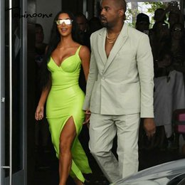 Bright Maxi Dresses Dgt Bright Maxi Dresses UK - Tobinoone Kim Kardashian Summer Women Sexy  Backless Nightclub Party Maxi Dress