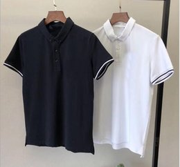 Shirt Collar Hit Australia - FD spring new comfortable wild hit color simple classic small standard embroidery men's PO collar T-shirt