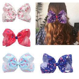Wholesale News European and American Children s Hairclip inch Thread Weaving Butterfly Tie Broken Flower Headdress Girl s Hairclip T3C5010