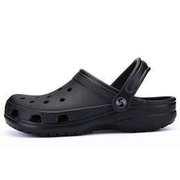 08117c20bfefd POLALI Brand Big Size 39-46 Croc Men Black Garden Casual Aqua Clogs Hot Male  Band Sandals Summer Slides Beach Swimming Shoes  8074