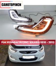 $enCountryForm.capitalKeyWord NZ - Yellow Turn Signal Function 12V Car DRL LED Daytime Running Light Fog Lamp For Hyundai Accent Solaris 2010 - 2013