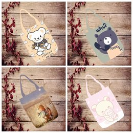 Cheap Price Ivyye Rilakkuma Series Fashion Anime Foldable Canvas Shopping Bag Casual Shoulder Bags Customized Tote Handbag Lady Girls New Luggage & Bags