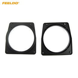 Wholesale FEELDO Car Speaker Spacer Mat Holder Hollow For Proton GEN2 WIRA1 Persona Mitsubishi Audio Modified Speacker Ring Pads