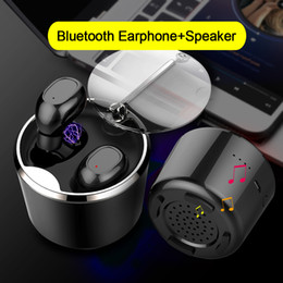 $enCountryForm.capitalKeyWord NZ - 2 in 1 TWS Bluetooth Earphones with Portable Speaker True Wireless Stereo Earbuds Mini Cordless Headsets with Charging Case