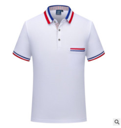 Mens Polo Design NZ - New arrived mens luxury brand designer polo t shirts Lapel polo shirt custom t-shirt short-sleeved embroidery tooling shirts mens design