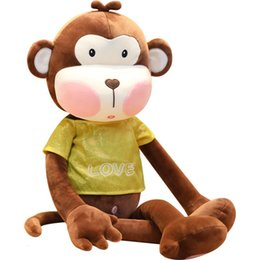 brown monkey stuffed animal Australia - Monkey Stuffed Animal Collectible Plush Toys Pillow Car Decoration Cute Valentine's Day Gifts Hot Toys Dolls