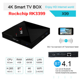 $enCountryForm.capitalKeyWord Australia - Latest android 7.1 TV box X99 RK3399 Quad-core 4GB 64GB 2.4G 5GWIFI&Bluetooth HDMI&Type C smart media player