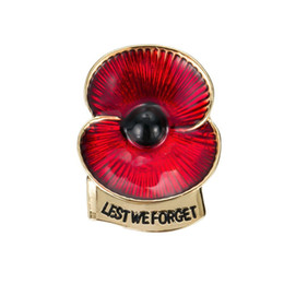 $enCountryForm.capitalKeyWord UK - Red Enamel 2 Petal Poppy Flower Brooch Lest We Forget Pins Gifts for Remembrance Day 11 4 Inch