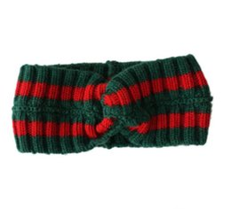 $enCountryForm.capitalKeyWord Australia - Hot Women's Scarf Red and green stripes Design Elastic Headband knit Hair Bands for Men and Women Retro Turban Best Quality Gifts