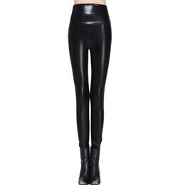 $enCountryForm.capitalKeyWord UK - Leggings Women Faux Leather High Quality Slim Leggings Plus Size High Elasticity Sexy Pants Leggins S-xl Leather Boots Leggings