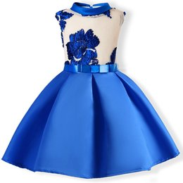 Baby Wedding Dresses Year UK - Baby Girls Clothes 3 5 7 9 10 Years Summer Embroidery Silk Princess Dresses Wedding Party Kids Dress For Toddler Girl Clothes J190618