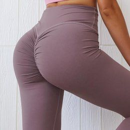 booty lift Canada - Women seamless scrunch bufitness leggings high waist booty lift yoga legging sexy candy color gym workout yoga pants