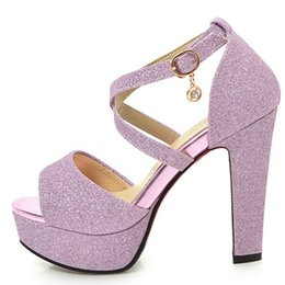 $enCountryForm.capitalKeyWord Australia - Cocoafoal Women Gold Peep Toe Sandals Plus Size 32 - 43 High Heels Wedding Sandals Party Sexy Pole Dance Silver Summer Pumps