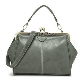Bag Frames Australia - good quality Vintage Leather Handbags Women Messenger Bags Retro Crossbody Shoulder Bags Metal Frame Small Clutch Handbags Bolsa Sac