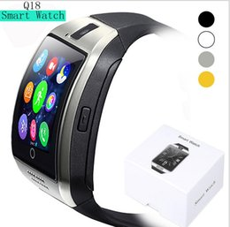 $enCountryForm.capitalKeyWord Australia - Hot Q18 Bluetooth Smart Watch Mini Camera big screen smart wristband For Iphone 8 X iPhone Samsung Smart Phones GSM SIM Card Touch Screen