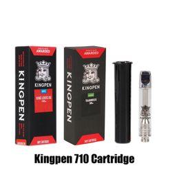 Vente en gros KingPen 710 Cartouche Rouge Coffret Cadeau Paquet 0.5ml 1.0ml Vaporisateur En Céramique Bobine Atomiseur 510 Vape Réservoir De Chaleur Huile Chariots KP Saveur Autocollant