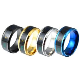 Wholesale Titanium Steel Mood Emotion Feeling Intelligent Temperature Sensitive Rings for Women Men Waterproof Stainless Steel Jewelry
