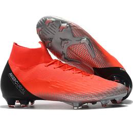 cd5af4d6 2018 мужские футбольные бутсы Mercurial Superfly KJ VI Elite Cristiano  Ronaldo Neymar FG футбольные бутсы cr7 футбольные бутсы scarpe calcio  дешевые Ora