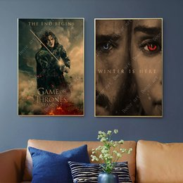 Chinese  Game of Thrones Queen Season 8 Snow Canvas Painting Vintage Wall Kraft Posters Coated Wall Stickers Home Decor Pictures Gift manufacturers