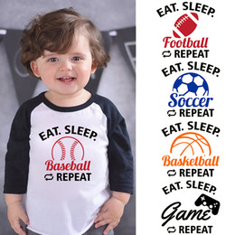 Toddler baby games online shopping - LYTLM T Shirt Boys Eat Sleep Game Repeat Tshirt Kids Winter Toddler Shirts for Boys Toddler Girl Tops Baby Boy Fall Clothing