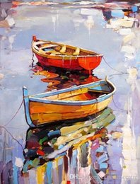 painting seascape boat Australia - vA. Georgi Kolarov Boats and Ships High Quality Handpainted Famous Abstract Landscape Wall Art Oil Painting On Canvas Home Office Deco l16
