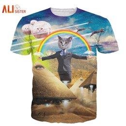 t shirt 3d men funny Australia - Alisister 2019 New Cat Printed Animal T-shirt Women Men Funny Clothing Harajuku Tee Casual Unisex 3d T Shirt C19042201