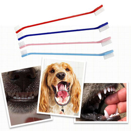 hottest products Canada - Hot Selling Pet Cat Dog Tooth Finger Brush Dental Care For Pet Toothbrush Mouth Cleaning Toothbrushes Plastic Cat Brushes