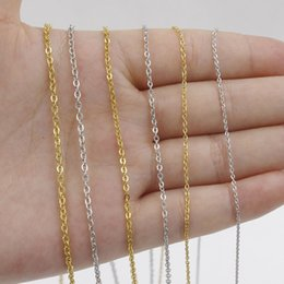 2mm rolo chain Australia - 5pcs 316L Stainless Steel 1 1.5 2mm Rolo Link Chain Necklace Gold Silver Tone 40 45 50 60CM Long Chain Lobster Clasp Necklace