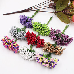$enCountryForm.capitalKeyWord Australia - 12Pcs Per lot Handcraft Artificial Flowers Stamen Sugar Wedding Party Decoration DIY Wreath Gift Box Scrap booking Cheap Fake Flowers
