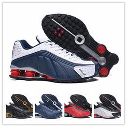 buy popular 08692 f1261 nike air max 2019 nouveaux shox Hommes Chaussures De Course Zapatillas  Hombre R4 Baskets En Cuir Respirant chaussure homme Athletic Sneakers  taille 40-46