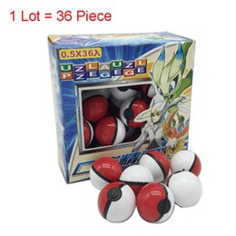Pokemon Wholesale Figure Australia - Hot sale 36Pcs Lot ABS classic Action Anime Figures Poke balls  PokeBall Fairy Ball Super Ball Master Ball Kids Toys christmas Gift