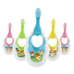children baby teeth NZ - Baby Soft-bristled Toothbrush for Children Teeth Cute Cartoon Training Toothbrushes Baby Dental Care Tooth Brush Anti Slip Handle
