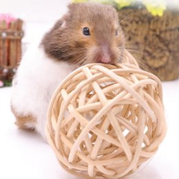 $enCountryForm.capitalKeyWord Australia - Rabbit Small Pet Hamster Chewing Toy Small Pet Cleaning Teeth Natural Wooden Ball Molars Entertainment Toys