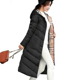 Womens plus size doWn jackets online shopping - 2019 New Long Parkas With Hooded Female Women Winter Coat Thick Cotton Pockets Jacket Womens Outwear Parkas Plus Size XXXL Coats