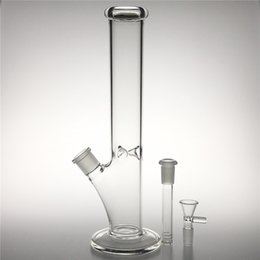Beaker Bong Bowl Australia - New 12 Inch Glass Water Bongs Straight Clear Thick Heady Glass Beaker Recycler Percolator Bong Bowl Dab Rigs for Water Smoking