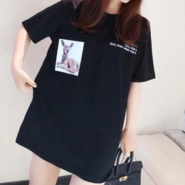 $enCountryForm.capitalKeyWord Australia - 19ss Summer New All Cotton Deer Printed Fashion Short Sleeve T-shirt, Couple Style, Obscure Texture, Familiar Skin Comfort